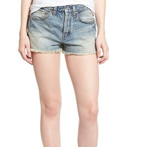 Free People Uptown Denim Shorts 25